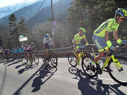 Contador en la tercera etapa, disputada este miércoles.