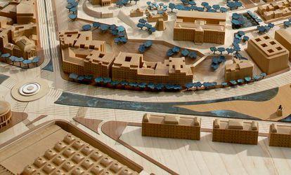 Maqueta de la reforma incluida en el proyecto arquitectónico de 2002 para el eje Prado-Recoletos.