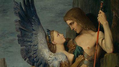 'Edipo y la esfinge', obra de Gustave Moreau.