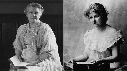 Las escritoras Anna Katherine Green (izquierda) y Catherine L. Pirkis.