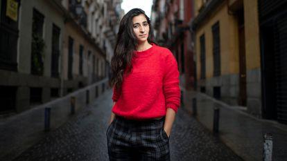 Alba Flores, en una calle de Madrid, la semana pasada.