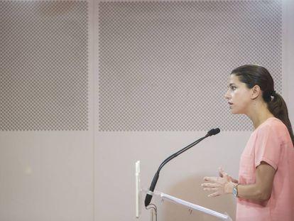 Rueda de prensa de la líder de Ciudadanos de Cataluña, Inés Arrimadas.