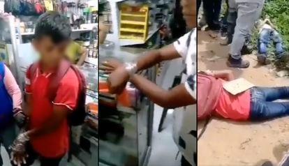 Imágenes del vídeo previo y cuando fueron encontrados los cuerpos de los jóvenes.