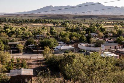 Vista de la comunidad de Bavispe, Sonora.