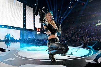 Miley Cyrus en concierto en iHeartRadio Music Festival, en Las Vegas, en septiembre de 2019.
