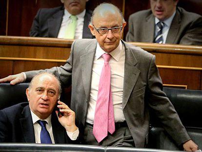Cristóbal Montoro, hoy en el Congreso.