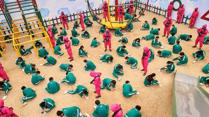 Uno de los momentos de la serie 'El juego del calamar', que se estrenó en septiembre.