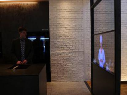 El televisor transparente de Panasonic.