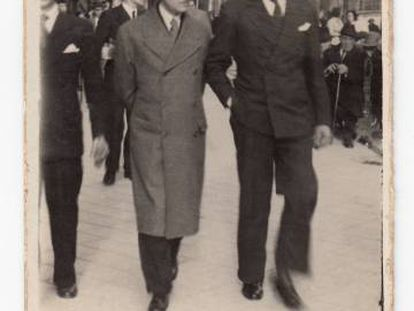 Pío del Río Hortega (izquierda) y Nicolás Gómez del Moral.