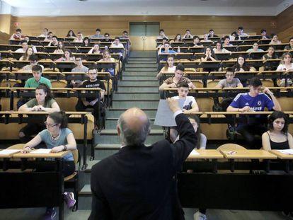 Examen de selectividad en Complutense de Madrid, el pasado junio.
