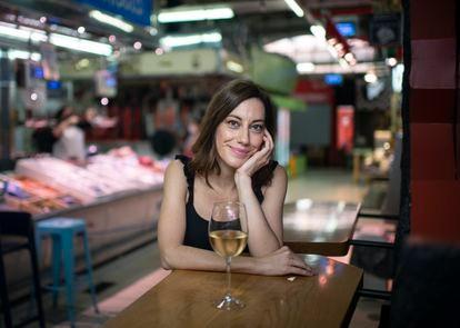 Cristina Gallego, fotografiada en el mercado de Vallehermoso, en Madrid.