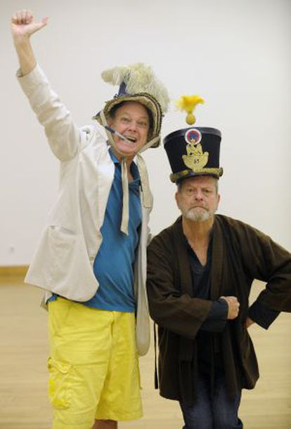 Bill Plympton (a la izquierda) y Terry Gilliam, en Gijón.