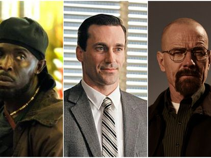 De izquierda a derecha: 'The Wire', 'Mad Men' y 'Breaking Bad', las tres mejores series del siglo XXI según la encuesta elaborada por BBC. En vídeo: cabecera de 'The Wire', primera clasificada.