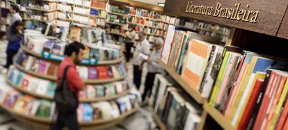 Imágenes de la sección de literatura brasileña de la Libreria Cultura.