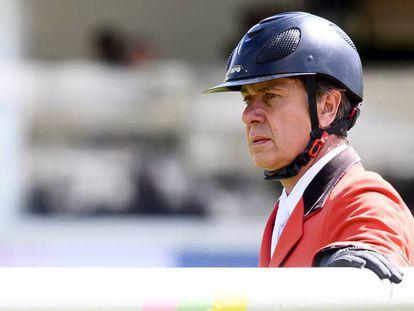 Cayetano Martinez de Irujo, durante una competición hípica, el pasado 19 de mayo en Madrid.