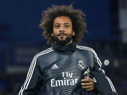 Marcelo, durante un partido con el Real Madrid en abril.