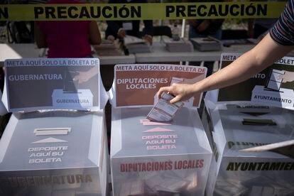 Urnas electorales, utilizadas durante la jornada del domingo.