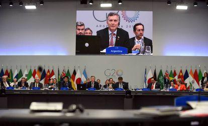 Vista general de la reunión de presidentes del G20 realizada en Buenos Aires, este sábado.