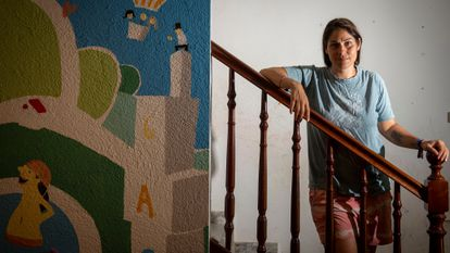 Míriam Farelo, el pasado jueves en su casa, en Arenys de Munt (Barcelona).