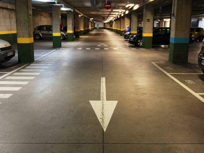 El aparcamiento de Collado Villalba ayer.
