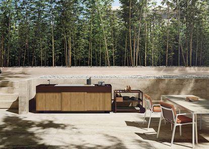 Imaginar la situación ya e stentador: el canto de los pájaros, la primavera y una cocina de aluminio, disponible en 30 colores, capaz de redimir al cocinero más torpe. |