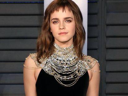 Emma Watson en la fiesta de los Oscars, orquestada por Vanity Fair en el Wallis Annenberg Center; Beverly Hills; California. Marzo 04, 2018.