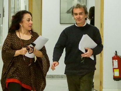 Fernando Simón, este sábado, antes de la rueda de prensa para informar sobre el coronavirus.