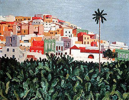 <i>Barrio de San Nicolás, hacia 1932-35</i>, de José Jorge Oramas (Centro Atlántico de Arte Moderno, Cabildo de Gran Canaria).