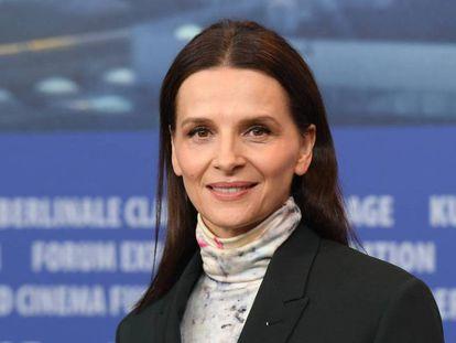 La actriz Juliette Binoche, antes de la rueda de prensa de presentación del jurado de la Berlinale. En vídeo, las declaraciones de Binoche sobre Weinstein.