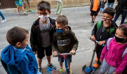 Primer día de clase en la escuela de Ollauri, La Rioja. / Gobierno de La Rioja