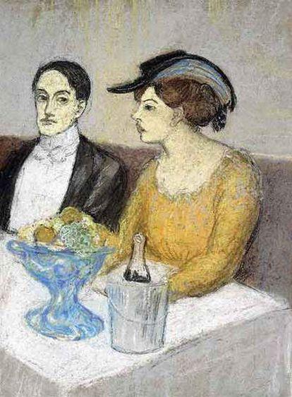 <i>Homme et femme à table</i>, de Picasso, con un valor estimado de entre 2,7 y 3,7 millones de euros, es una de las obras que saldrá a la puja en una subasta organizada por Sotheby&#39;s en su sede londinense, y que reunirá a algunos de los más destacados representantes del impresionismo junto a otros maestros modernos como Picasso, Cézanne, Pissarro, Gauguin o Modigliani.