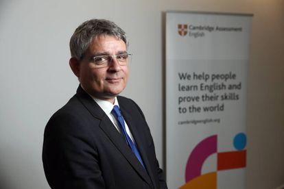 Saul Nassé, director ejecutivo de Cambridge English, en su sede en Madrid.