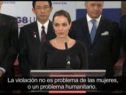 """Angelina Jolie: """"La violencia sexual es un problema global"""""""