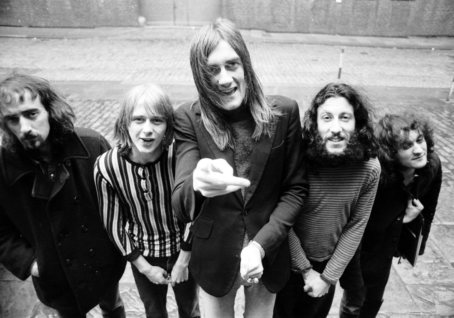 John McVie, Danny Kirwan, Mick Fleetwood, Peter Green y Jeremy Spencer. Fleetwood Mac en 1969.