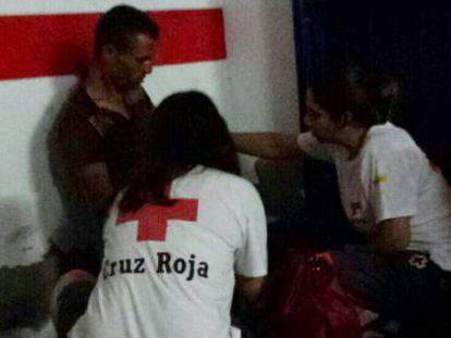 Cruz Roja atiende a los inmigrantes en Torrevieja.