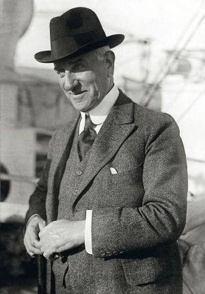 Retrato del filántropo Solomon R. Guggenheim.