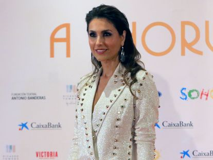 Paloma Cuevas en el estreno del musical de Antonio Banderas en Málaga en 15 de noviembre de 2019.