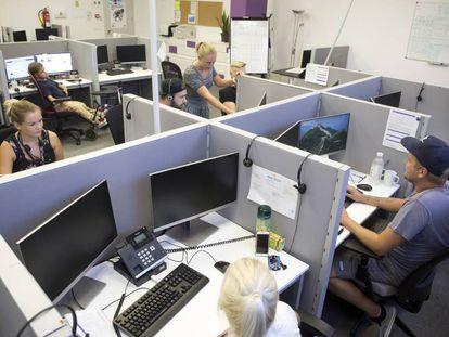 La empresa Barona, situada en la localidad de Fuengirola, donde opera como un 'call center' para diferentes empresas y organismos publicos de Finlandia.