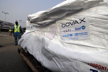 Primer cargamento de vacunas de la iniciativa Covax a su llegada a Accra, Ghana, este 24 de febrero.