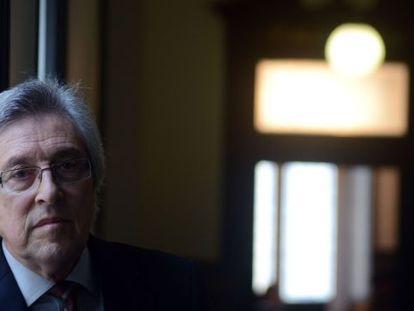 Miguel Angel Cadenas, en la sede del Tribunal Superior de Xustiza de Galicia.
