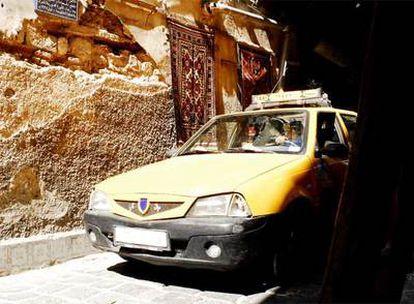 Un taxi en las calles de Damasco, la capital de Siria.