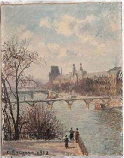 'La Seine vue du Pont-Neuf, au fond le Louvre', de Pissarro.