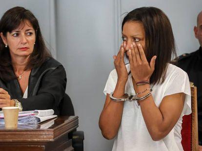 Ana Julia Quezada en la primera sesión del juicio por el crimen del pequeño Gabriel, este lunes.