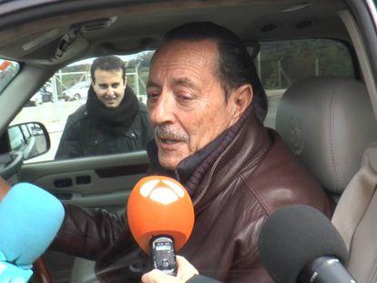 Julian Muñoz, a su llegada al centro en el que está cumpliendo condena.