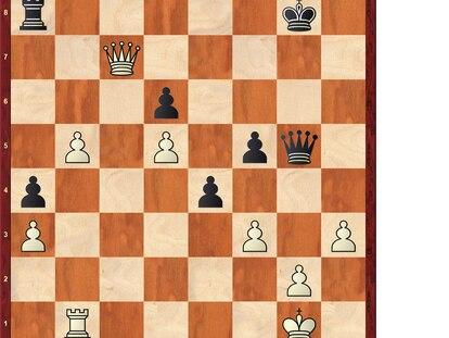 Posición tras 34 …e4