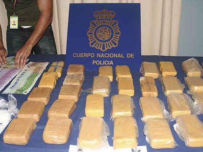 Alijo de heroína aprehendido este miércoles en Galicia.