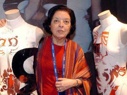 La directora de la Pasarela Cibeles, Cuca Solana, en febrero de 2005.