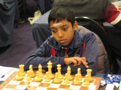 Rameshbabu Praggnanandhaa, durante el torneo Tradewise Gibraltar, el pasado enero.