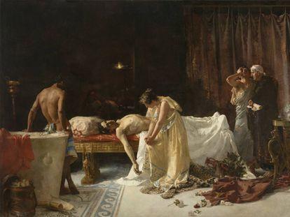 'La muerte de Lucano', de José Garnelo, tras su restauración en el Museo del Prado.