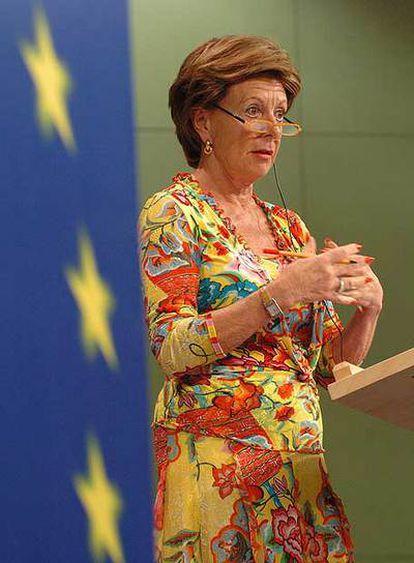Neelie Kroes, comisaria de Competencia.